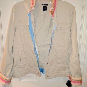 GAP Jacket w/ Striped Trim